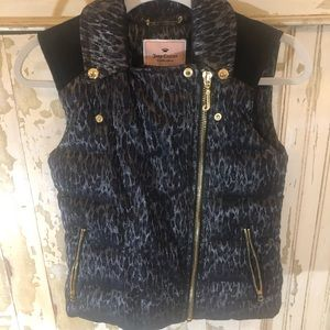 Juicy couture size small women's puffy vest EUC